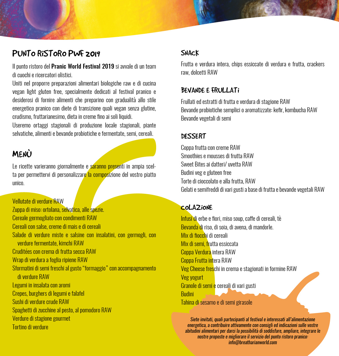 menu Pranic World Festival 2019